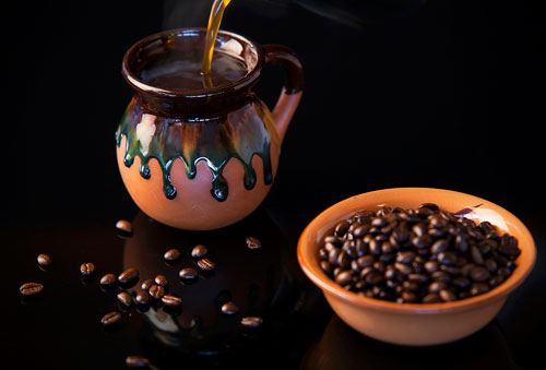 Spiced Coffee with coffee beans